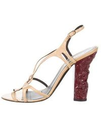 Chanel - Crossover Slingback Sandals Gold - Lyst