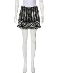 Tory Burch - Patterned High-rise Shorts - Lyst