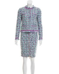Boutique Moschino - Tweed Knee-length Skirt Suit - Lyst