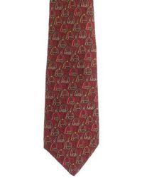 Ferragamo - Silk Printed Tie Green - Lyst