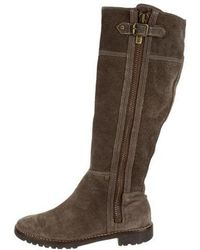Kors by Michael Kors - Kors By Michael Suede Round-toe Boots Grey - Lyst