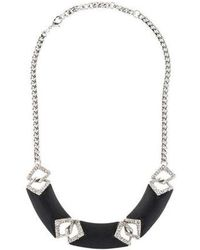 Alexis Bittar - Lucite & Crystal Triple Bar Collar Necklace Silver - Lyst