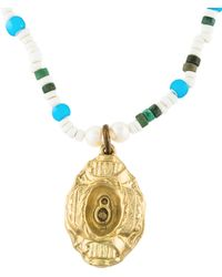 Lulu Frost - Vintage Beaded Pendant Necklace Gold - Lyst