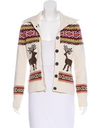 Bogner - Wool-blend Abstract Pattern Cardigan Multicolor - Lyst