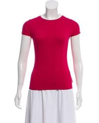 Akris Punto - Knit Short Sleeve Top - Lyst