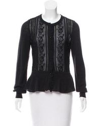 Class Roberto Cavalli - Fluted Lace Cardigan - Lyst