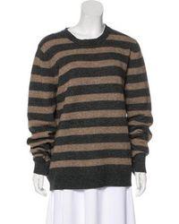 A.P.C. - Wool Knit Sweater Grey - Lyst