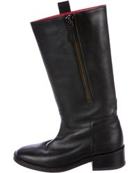 Chanel - Leather Mid-calf Boots - Lyst
