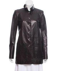 Chanel - Paris-bombay Leather Jacket Burgundy - Lyst