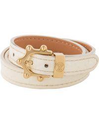 Louis Vuitton - Monogram Vernis Leather Triple Tour Bracelet Gold - Lyst