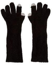 Rebecca Minkoff - Knit Long Gloves Black - Lyst
