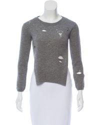 R13 - Shrunken Distressed Sweater Grey - Lyst