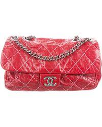 f9a2a3ea77ce Lyst - Chanel Small Sharpei Flap Bag Black in Metallic