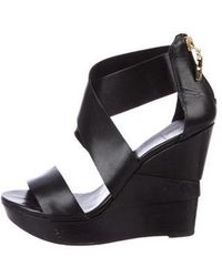 Diane von Furstenberg - Leather Multistrap Wedges - Lyst
