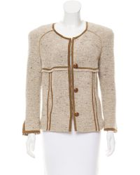 Isabel Marant - Leather-trimmed Wool Jacket Beige - Lyst