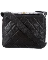 7f8ee776eedd Lyst - Chanel Vintage Patent Flap Bag Black in Metallic
