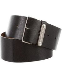Helmut Lang - Leather Buckle Belt Black - Lyst
