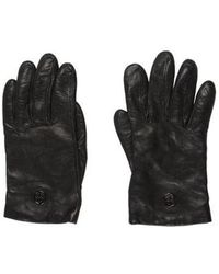 Tory Burch - Logo Leather Gloves - Lyst
