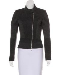 Karen Millen - Paneled Wool-blend Jacket Grey - Lyst