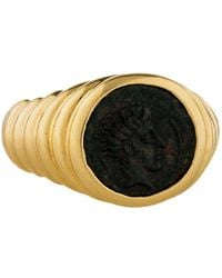 bvlgari 18k ancient coin cocktail ring yellow lyst
