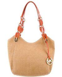 10b9f3f80305b MICHAEL Michael Kors - Michael Kors Straw Lilly Shoulder Bag W  Tags Tan -  Lyst