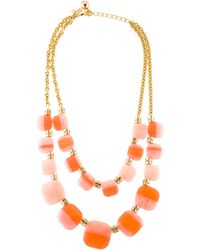 Kate Spade - Colorblock Double Strand Necklace Gold - Lyst