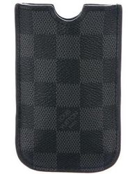 Louis Vuitton - Damier Graphite Iphone 4 Case - Lyst