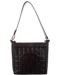 12413563726be1 Chanel - Cc Square Quilt Shoulder Bag Black - Lyst
