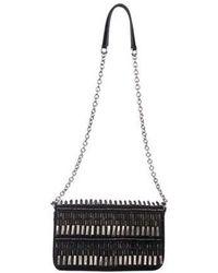 Barbara Bui - Embellished Suede Shoulder Bag Black - Lyst