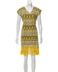 Sensi Studio - Abstract Knee-length Dress Multicolor - Lyst