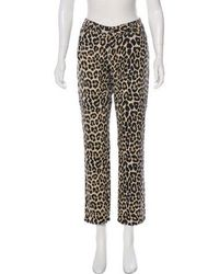 Kate Spade - Animal Print Mid-rise Jeans Tan - Lyst