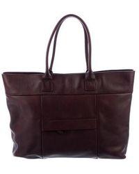 Brunello Cucinelli - Smooth Leather Tote Purple - Lyst