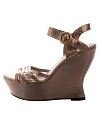 Alice + Olivia - Embossed Wedges Rose - Lyst