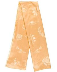 Cartier - Silk Floral Print Scarf Yellow - Lyst