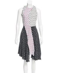 Tanya Taylor - Parton Printed Midi Dress Black - Lyst