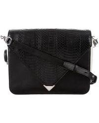 Alexander Wang - Large Embossed Leather Prisma Envelope Bag Black - Lyst