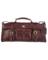 Etro - Buckle-accented Leather Bag Brown - Lyst