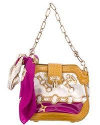 Louis Vuitton - Linda Monogram Charms Scarf Bag White - Lyst