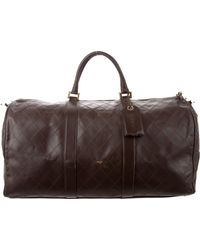Chanel - Vintage Leather Duffel Bag Brown - Lyst