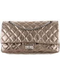 add67b81328d Lyst - Chanel Reissue 225 Double Flap Bag in Metallic