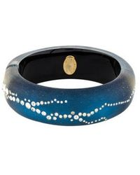Alexis Bittar - Lucite & Crystal Hinged Bangle Gold - Lyst