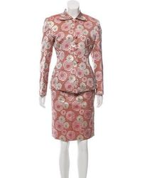 Dior - Embroidered Skirt Suit - Lyst