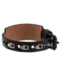 Lanvin - Leather Wrap Bracelet Black - Lyst
