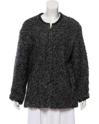 IRO - Bouclé Collarless Coat Grey - Lyst