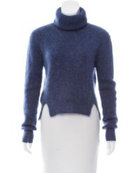 Band of Outsiders - Crop Mohair Turtleneck Sweater W/ Tags - Lyst