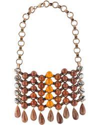 DANNIJO - Medine Necklace Silver - Lyst
