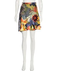 Christian Lacroix - Lace-accented Printed Knee-length Skirt - Lyst