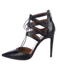 c80292089cd Lyst - Aquazzura Belgravia Lattice Suede Sandal in Black