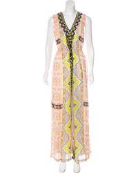 Vineet Bahl - Printed Embellished Dress Multicolor - Lyst