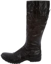 CoSTUME NATIONAL - Distressed Knee-high Boots - Lyst